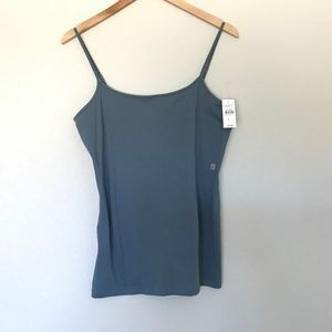 NWT LOFT Clean Cami Tank Top In Chic Slate Size L
